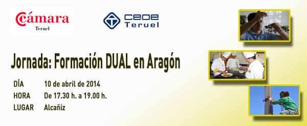 Alcañiz, 10 de abril. Jornada: Formación DUAL en Aragón