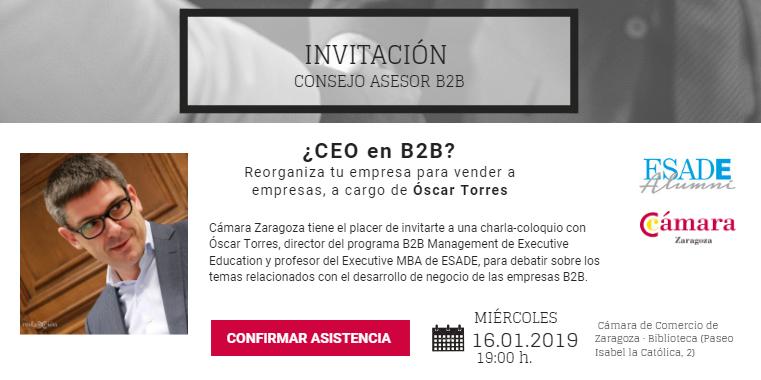 Charla coloquio - ¿CEO en B2B? Reorganiza tu empresa para vender a empresas