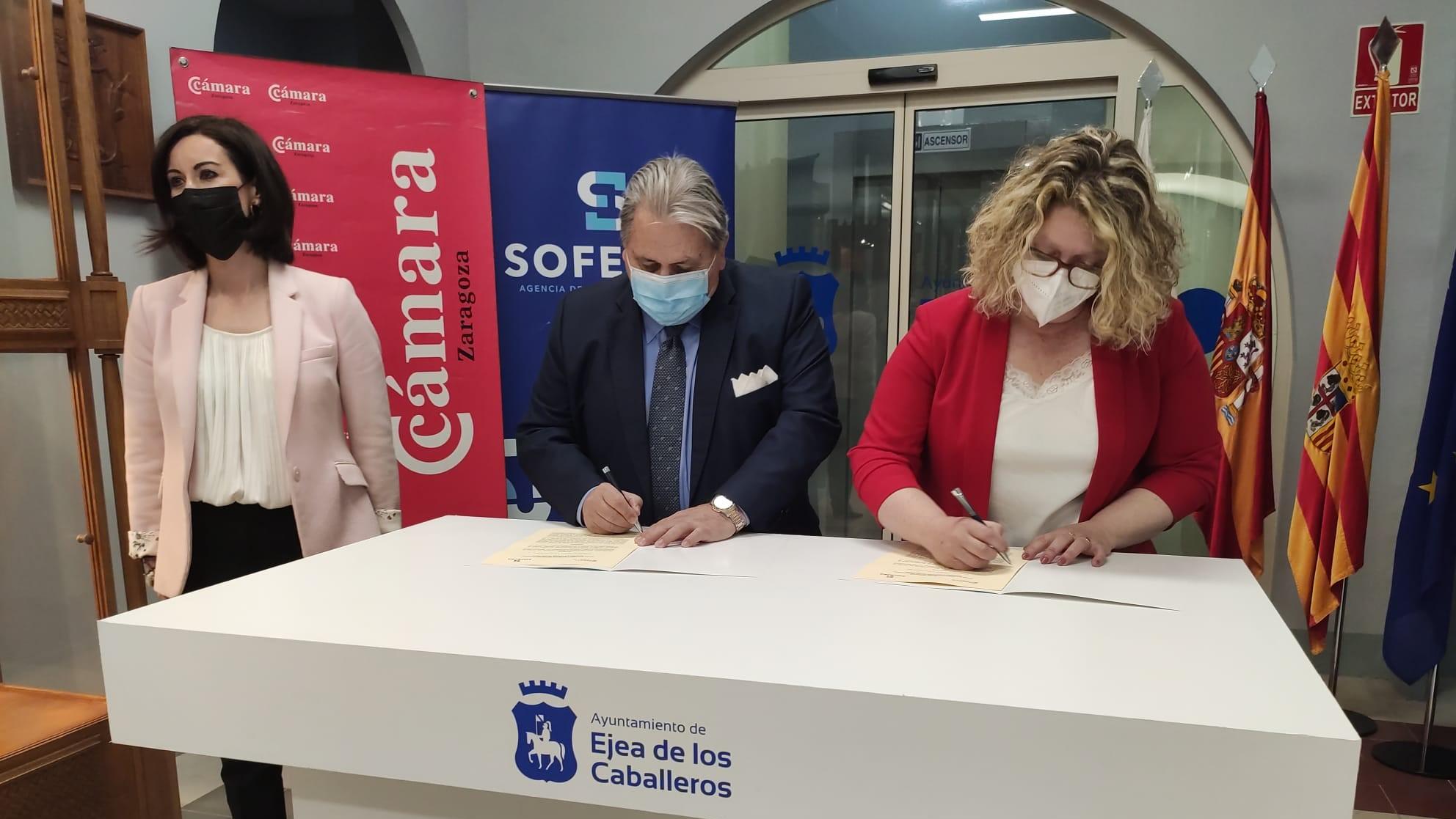 La Cámara de Zaragoza elaborará un estudio sobre la incidencia de la crisis de la Covid en el desempleo de Ejea
