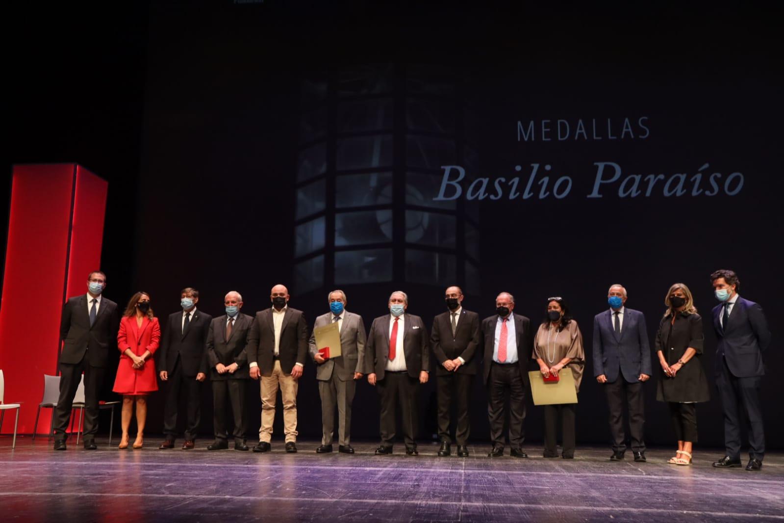 José Longás, Miguel Carreras, Vicente Salas y Francisco Nácher, Medallas Basilio Paraíso